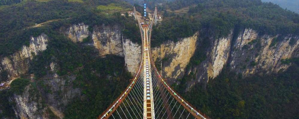 چین و ساخت رکوردشکن ترین پل های شیشه ای