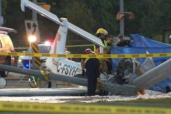 یک کشته در پی سقوط هواپیما در شمال تورنتو در کانادا