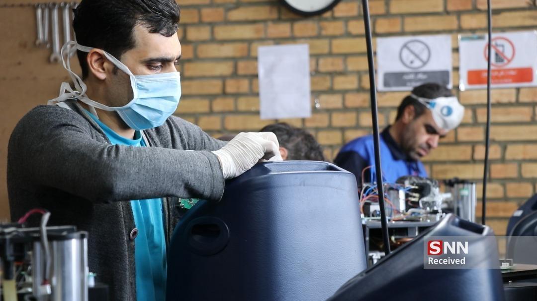 فراوری اکسیژن ساز بیماران کرونایی با حمایت موسسه دانش بنیان برکت