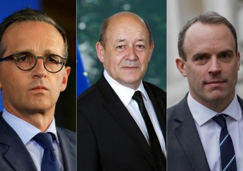 خبرنگاران وزیران سه کشور اروپایی: از اقدام ضد برجامی آمریکا حمایت نمی کنیم