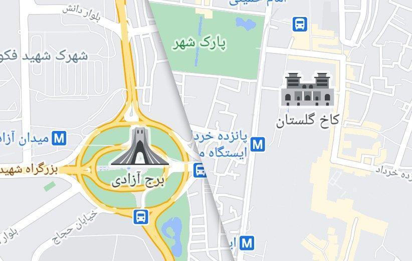 طراحی نمادهای اختصاصی گوگل مپ برای نقاط مهم گردشگری به ایران رسید