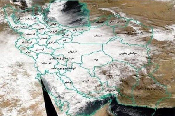 نقشه ماهواره ای بارندگی در کشور منتشر شد