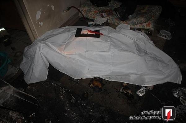 کشف جسد مرد میانسال در آتش سوزی ساختمان 4 طبقه در تهران