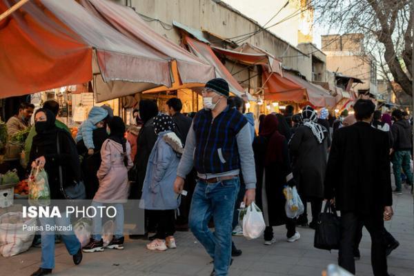غربت پروتکل های بهداشتی در روزبازارهای اراک، آمار صعودی کرونا در بهمن ماه