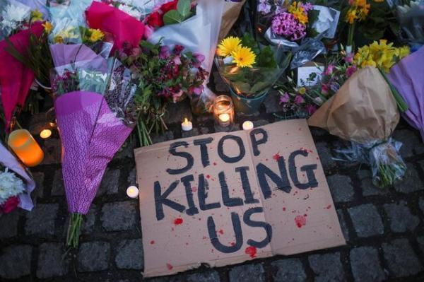 راهپیمایی اعتراضی لندنی ها پس از متهم شدن یک پلیس به قتل یک زن