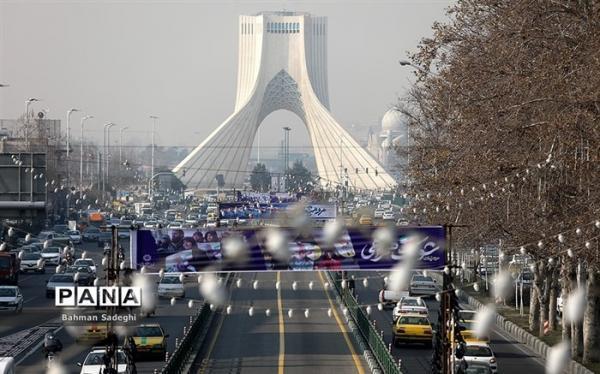 هوای ناسالم در بعضی مناطق تهران