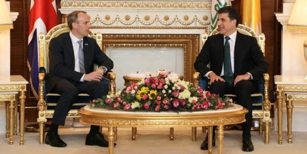 وزیر خارجه انگلیس وارد اربیل شد