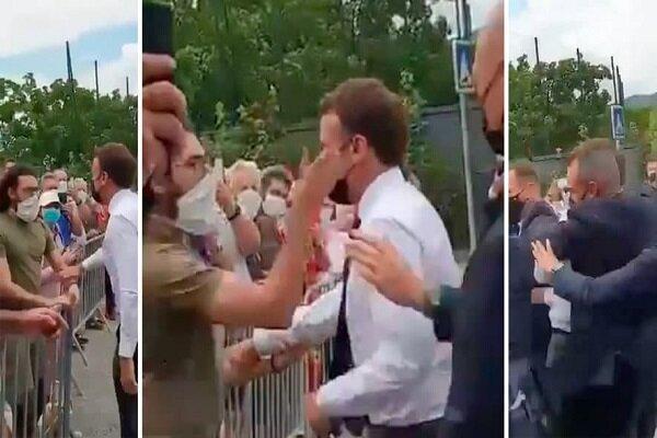 رئیس جمهور فرانسه سیلی خورد، 2 نفر بازداشت شدند