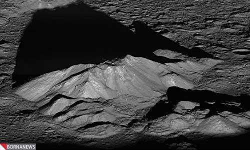 تصویری از طلوع خورشید در کره ماه